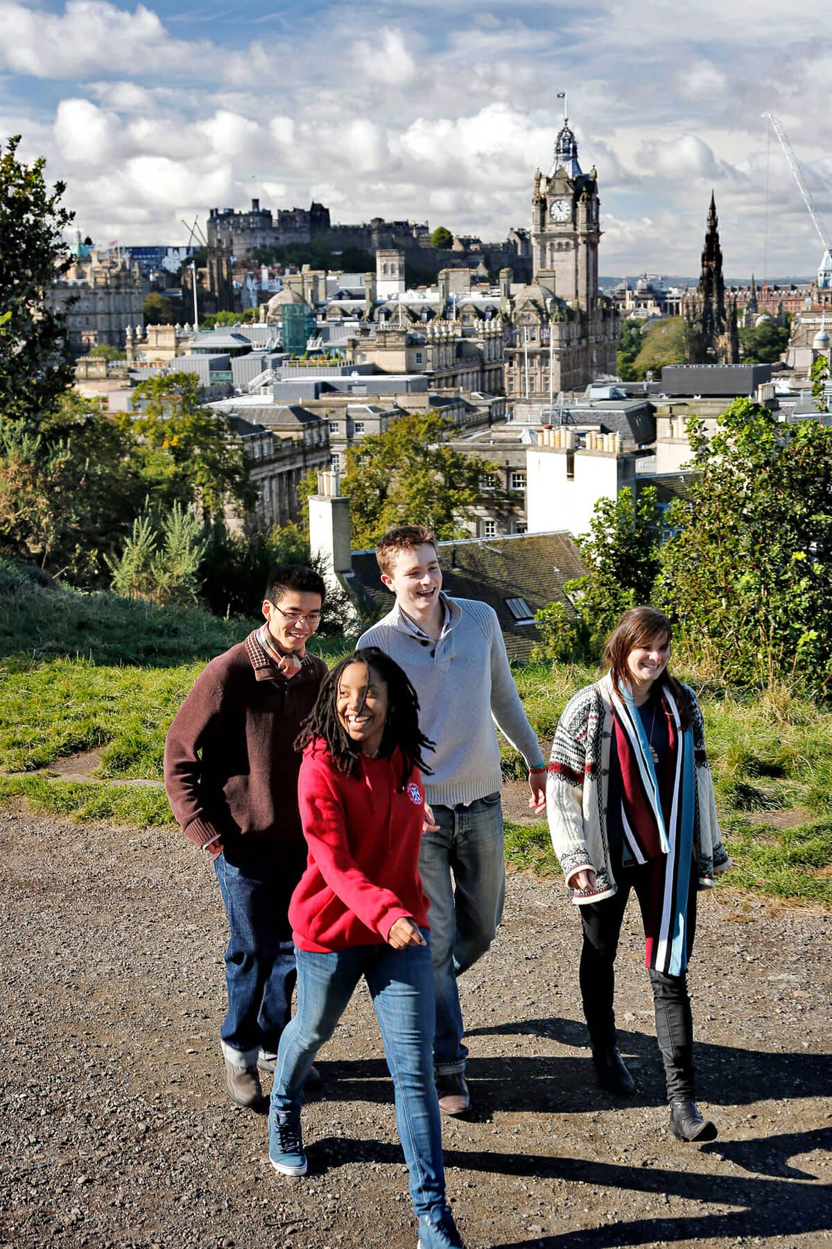 Undergraduate students in Edinburgh